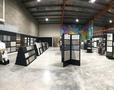 showroom of tiles